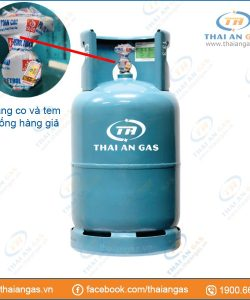 Bình gas 12kg van ngang (xanh) - Tem chống hàng giả