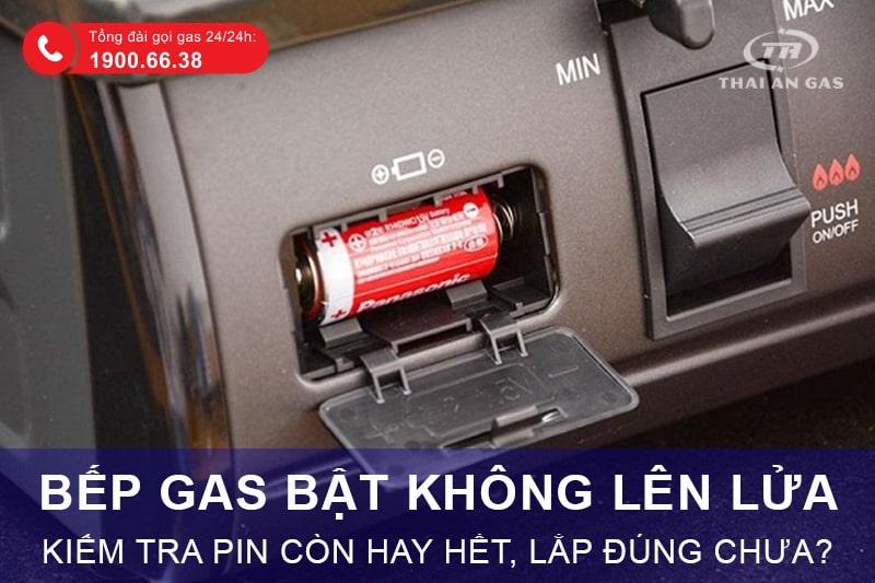 Bếp ga bật không lên lửa có thể do pin hết