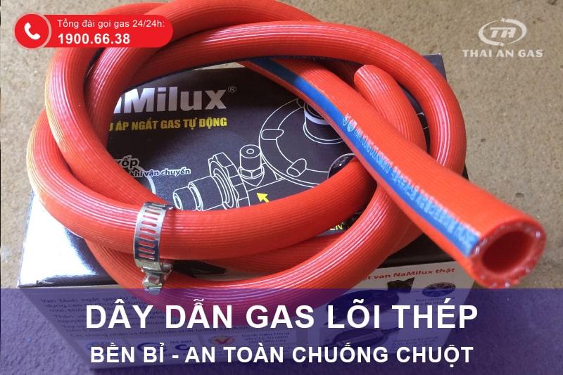 Dây dẫn gas lõi thép Hàn Quốc đang được bán tại Thái An Gas.
