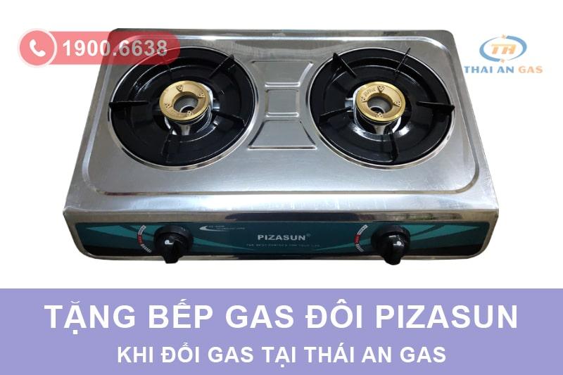 Tặng bếp gas đôi khi đổi gas tại Thái An Gas