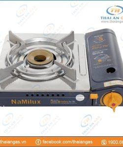 Bếp gas du lịch Namilux 2S cao cấp chống nổ mặt inox - Ảnh 1