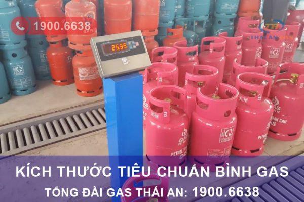 Kích thước bình gas 12kg, bình gas 45kg theo tiêu chuẩn