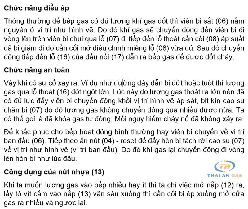 Nguyên lý hoạt động của van điều áp gas