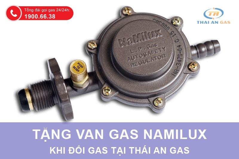 Quà tặng van ngắt gas tự động Namilux khi đổi gas tại Thái An Gas
